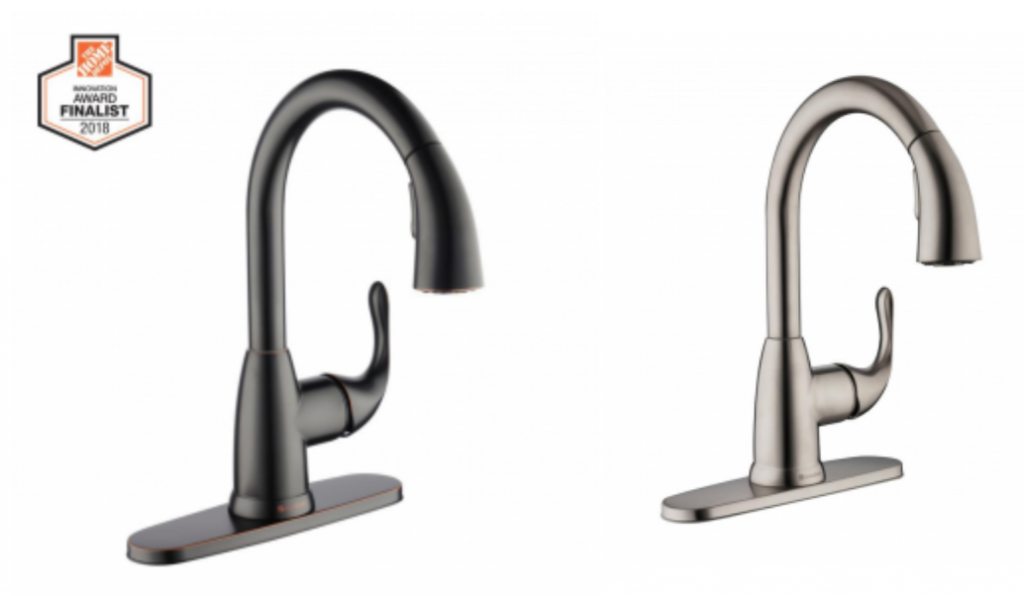 Glacier Bay Dylan Single Handle Pull Down Sprayer Kitchen Faucet As