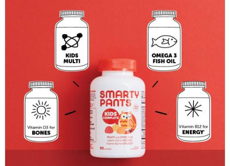 SmartyPants Kids Complete Daily Gummy Vitamins Only 1242