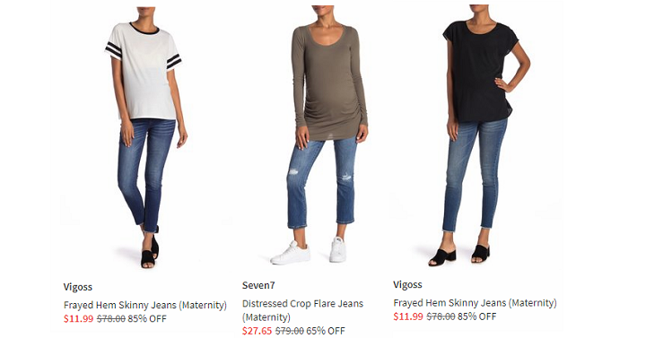 3f2062c53ae Head over to Nordstrom Rack and score up to 85% off maternity jeans! They  have popular brands like Seven7