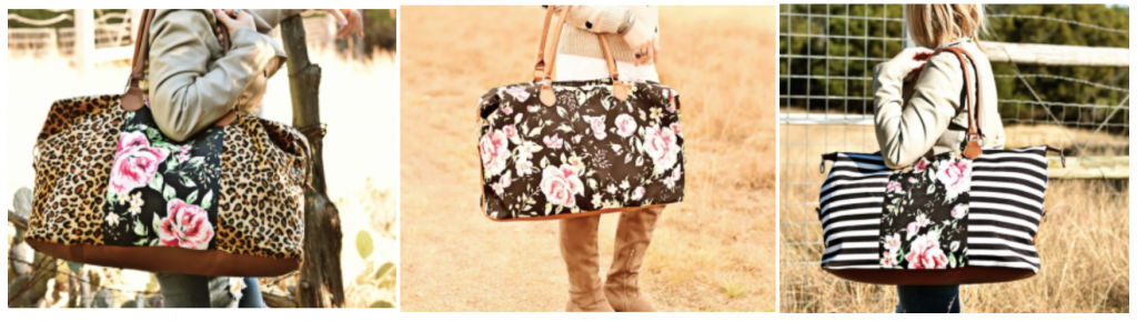 3f6d7c324e59 How cute are these bags !  Head over to Jane and shop a variety of Spring  Floral Weekenders for just  19.99! (regularly  49.99) Choose from six  different ...