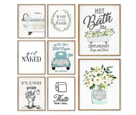 Bathroom Art Prints | Bathroom Art Prints Only 2 97 Freebies2deals