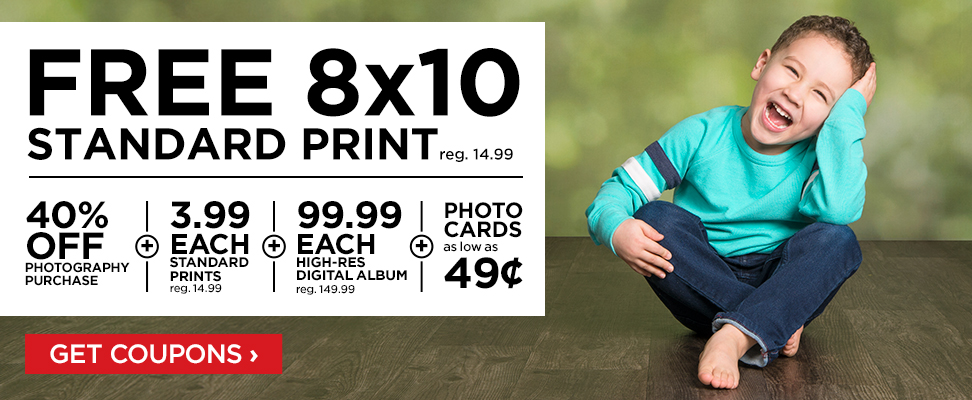 FREE 8x10 Print at JCPenney Portrait Studios! - Freebies2Deals