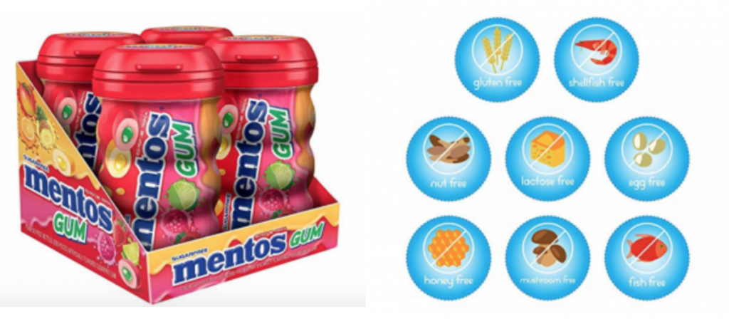 Mentos Sugar Free Chewing Gum 4 Pack 25 Off Get Red Fruit Lime For Just 8 44 Shipped Common Sense With Money