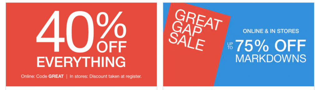 Gap 75 Off Markdowns Plus 40 Off Everything Deep Discounts Common Sense With Money