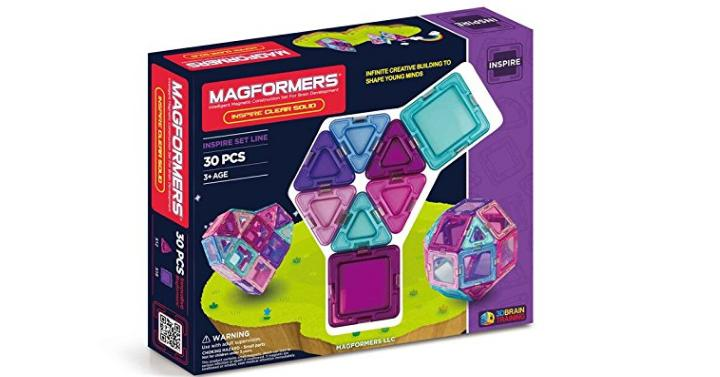Magformers Inspire Clear Building Set 30 Pieces Only 2499