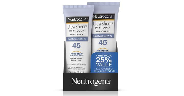 Neutrogena Ultra Sheer Dry Touch Sunscreen Lotion Pack Of 2 Only 839
