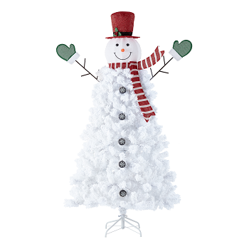 Holiday Time Pre-Lit Snowman Artificial Christmas Tree Only ...
