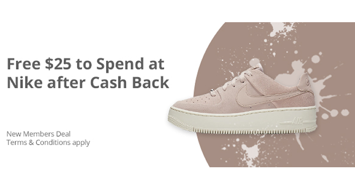 Awesome Freebie! Get .00 to spend FREE from Nike and TopCashBack!