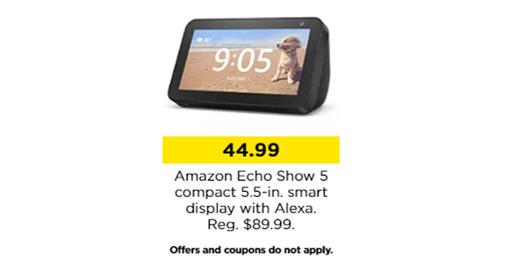 KOHL'S BLACK FRIDAY SALE! Amazon Echo Show 5 Compact 5.5-in. Smart Display with Alexa – Just .99!